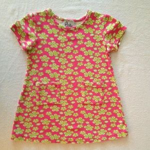 Lilly Pulitzer Pink Green Floral Short Sleeve 4T